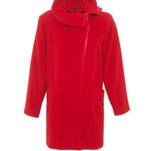 Damenjacke Wolle Velour Rot - Crines Design